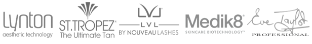 Lynton Clinic, Medic8. LVL Lashes St.Tropez Tanning, Eve Taylor Professional Logos